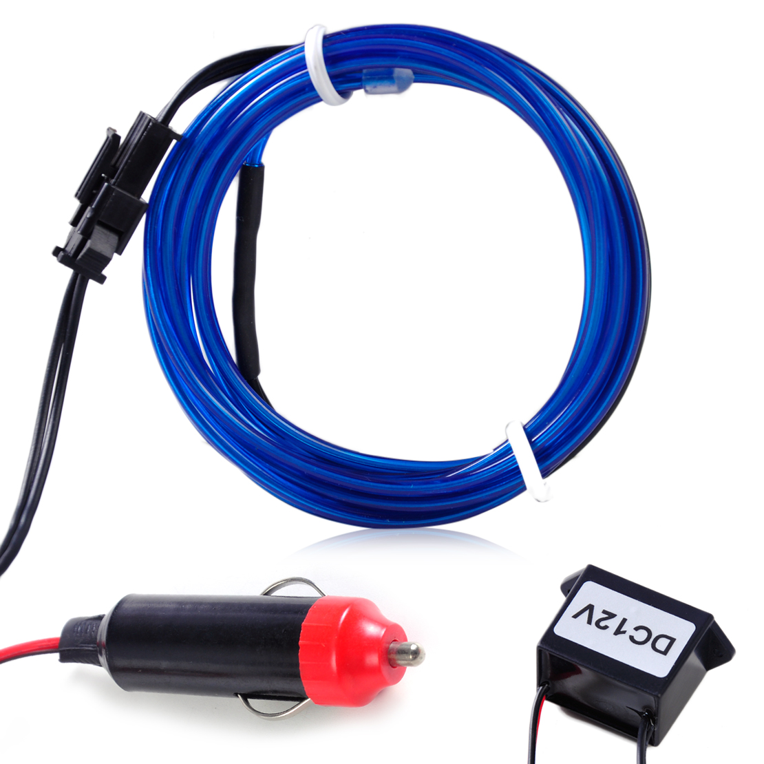 12v el wire flexible car interior decor fluorescent neon strip cold light tape ebay. Black Bedroom Furniture Sets. Home Design Ideas