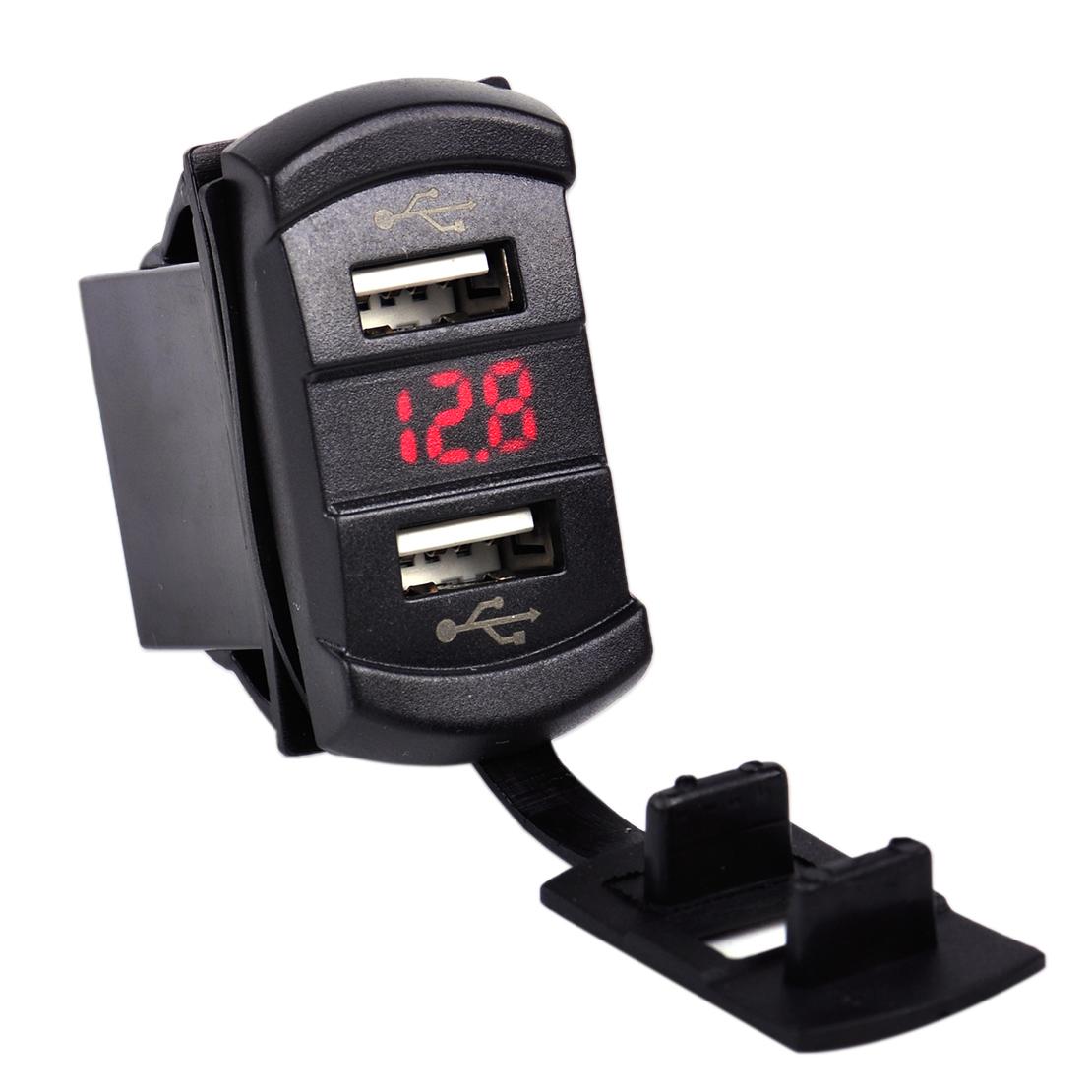 12v led dual port usb ladeger t sockel spannung voltmeter. Black Bedroom Furniture Sets. Home Design Ideas