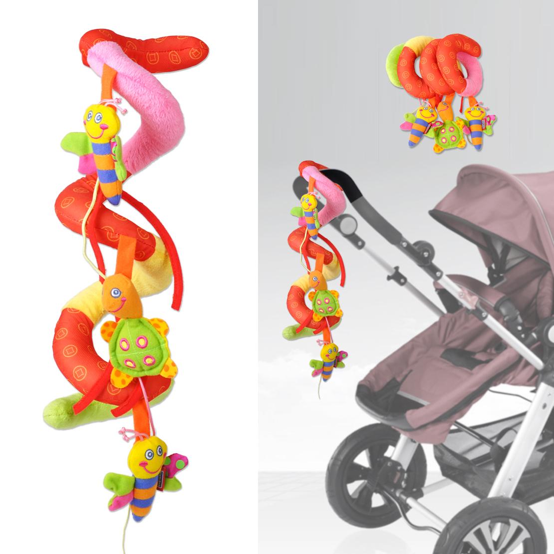 Cute Kid Baby Stroller Car Seat Cot Crib Pram Spiral Plush