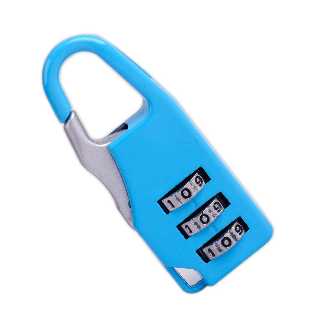mini 3 digit combination padlock safe travel luggage suitcase code password l. Black Bedroom Furniture Sets. Home Design Ideas