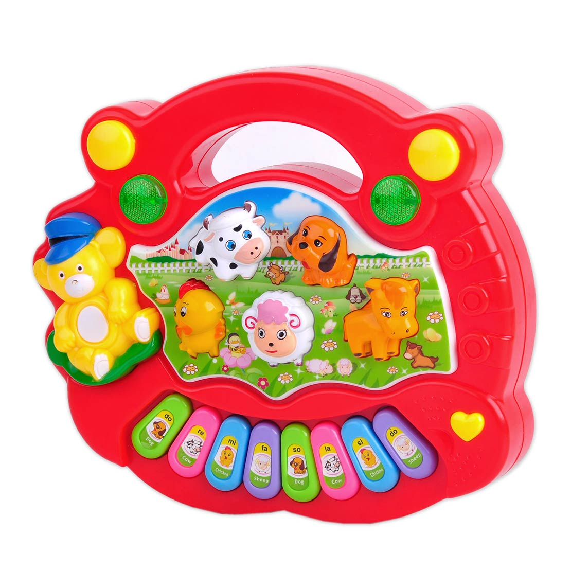 musik spielzeug klavier cartoon tiere elektronisch instrument babyspielzeug neu ebay. Black Bedroom Furniture Sets. Home Design Ideas