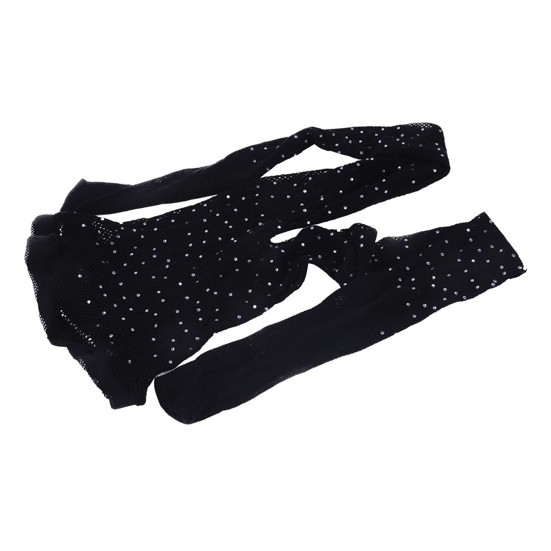 Women-Bling-Glitter-Rhinestone-Pantyhose-Fishnet-Stockings-Tights-Mesh-Socks