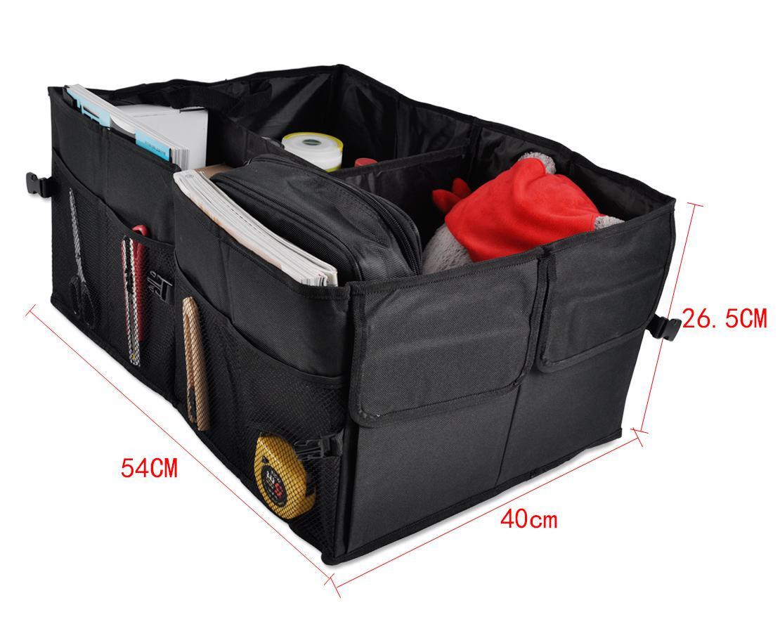 Folding car trunk organizer with cooler bag 7
