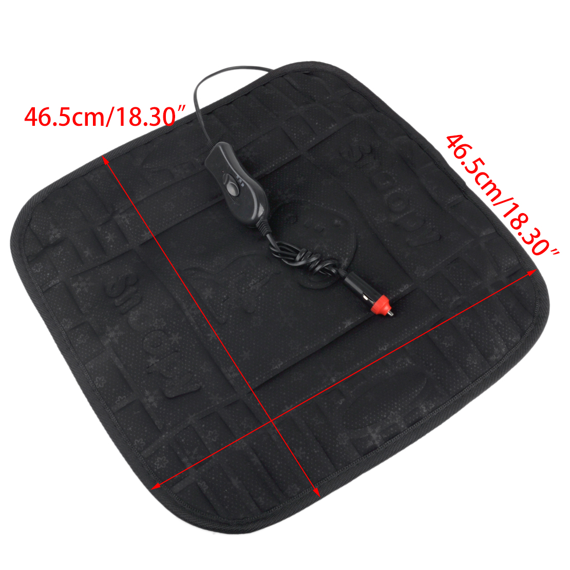 new 12v car heated cushion seat hot cover auto heat heater warmer pad ebay. Black Bedroom Furniture Sets. Home Design Ideas