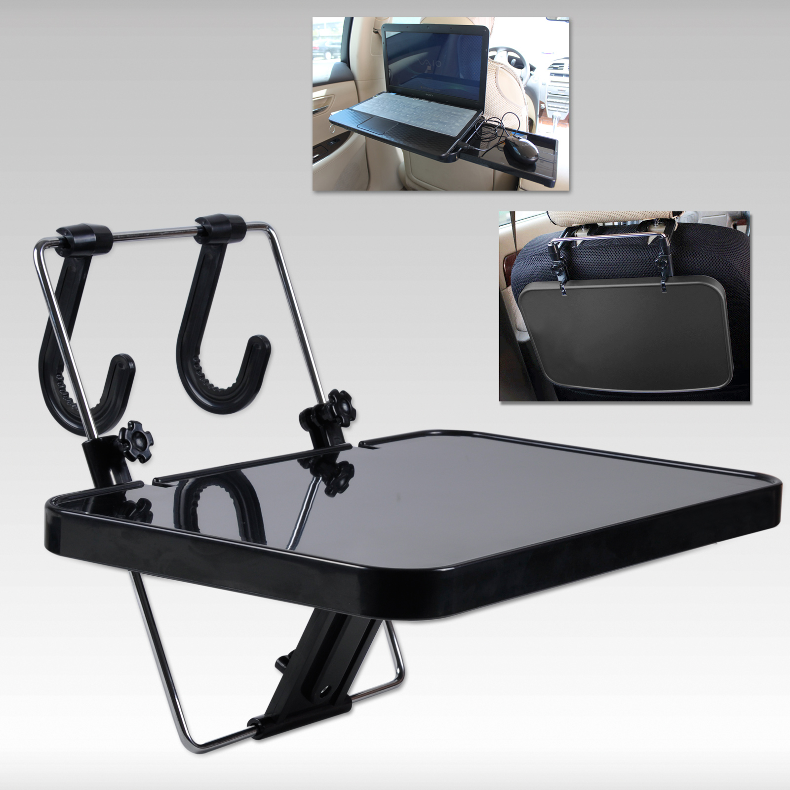 Car Seat Mount Tray Laptop Table Notebook Desk Food Table