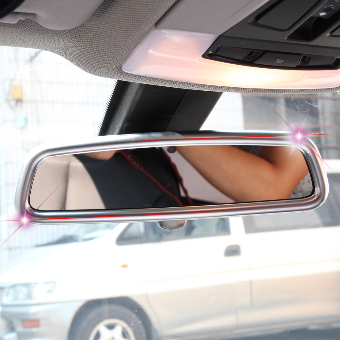 New Matt Chrome Interior Rear View Mirror Trim For Bmw X1 X3 X5 X6 E84 F25 E71 Ebay
