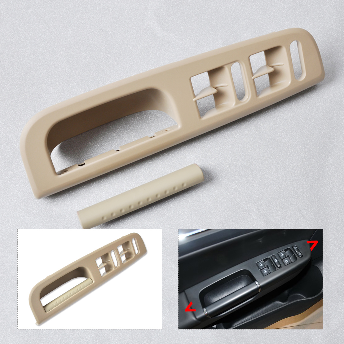 Beige Door Window Switch Control Panel Handle Trim For Vw Passat Golf Jetta Mk4 Ebay