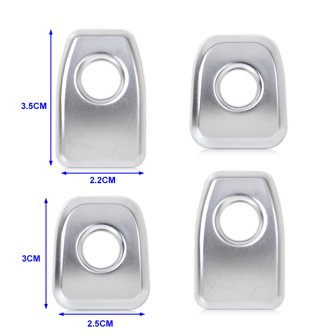 4xmatt Door Lock Knob Grommet Ferrule Covers Trim Fit For