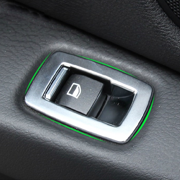 4x chrome car interior door window switch panel cover trim for bmw x5 f15 x6 f16 ebay. Black Bedroom Furniture Sets. Home Design Ideas