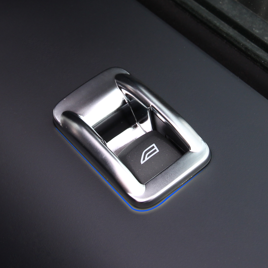 chrome interior door window switch panel cover trim for 2008 2015 freelander 2 ebay. Black Bedroom Furniture Sets. Home Design Ideas