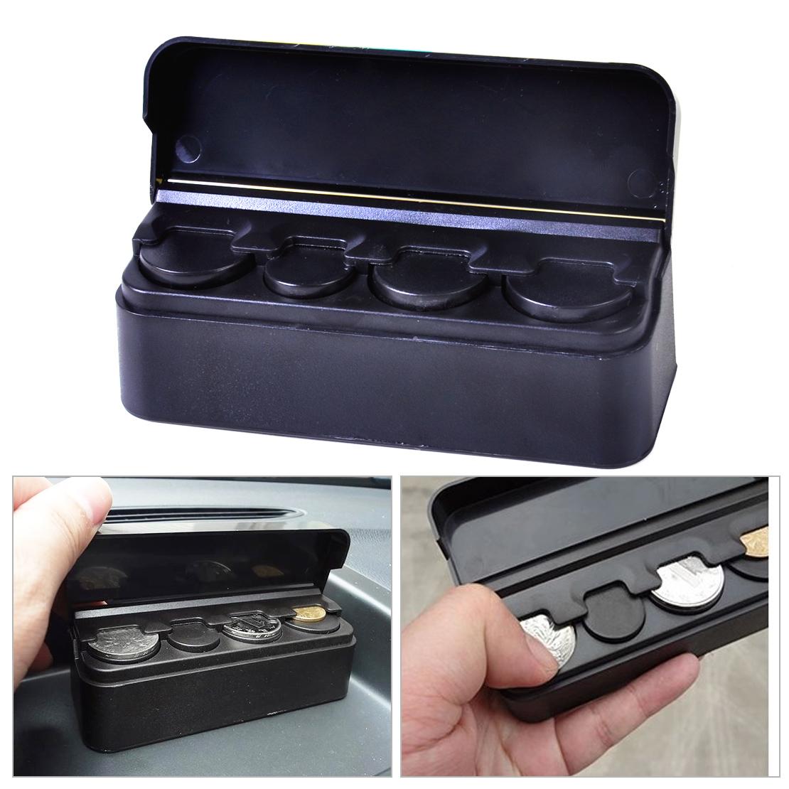 Black new car coin case loose change storage box money for Money storage box