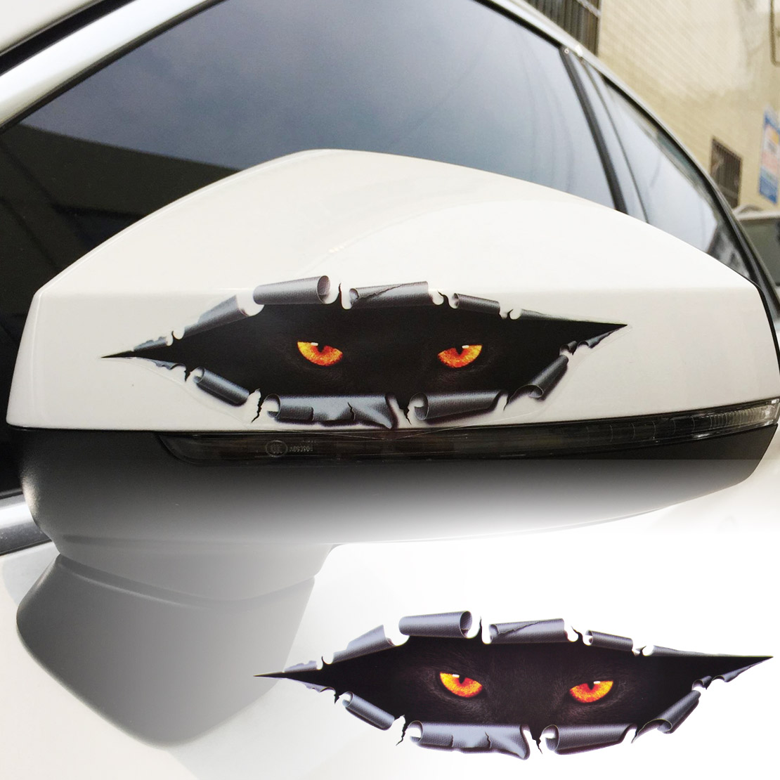 auto car window 3d creative simulation monster leopard eye peeking sticker decal ebay. Black Bedroom Furniture Sets. Home Design Ideas