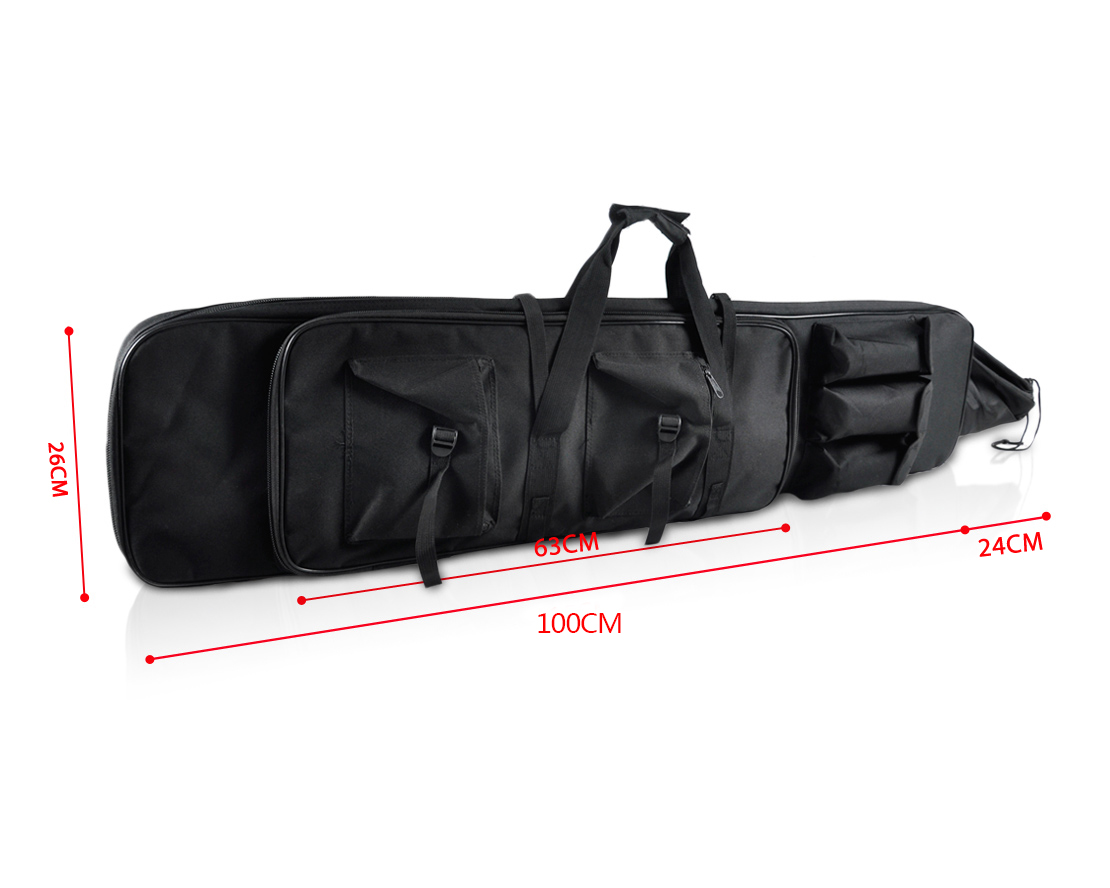 airsoft tactical dual rifle carrying case gun bag fishing