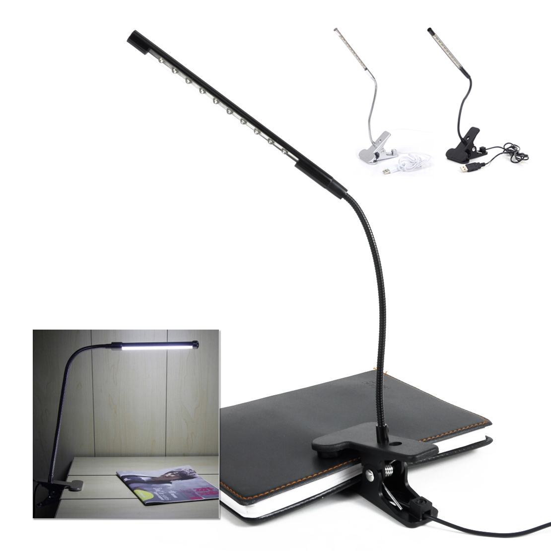 Brilliant  367212 Copper Desk Lamp With Flexible Arm Traditional Table Lamp