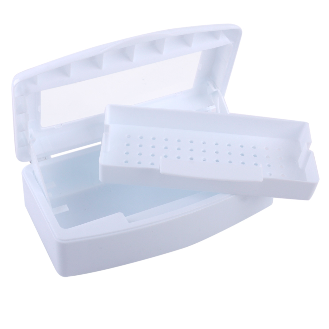 Nail Art Tool Sterilizer Tray Box Clean Disinfection Salon Manicure ...