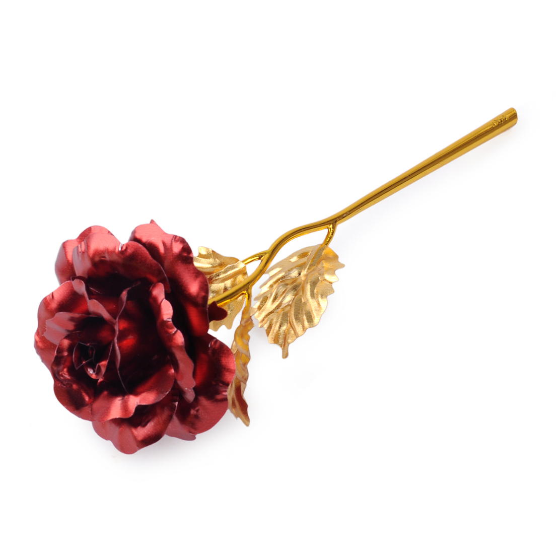 24k Plated Gold Rose Dipped Foil Flower Birthday Christmas Wedding