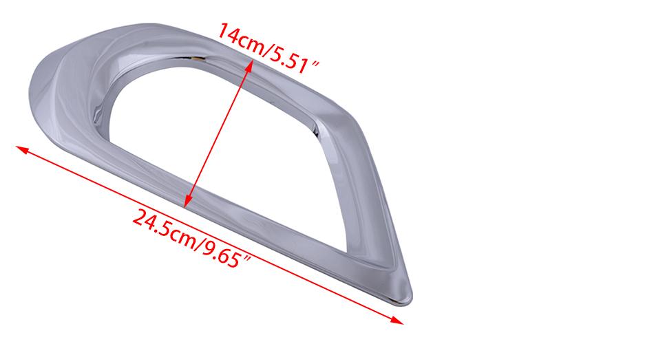 Fit für Subaru Forester SJ 2014-2016 2×Nebelscheinwerfer Rahmen Abdeckung tp