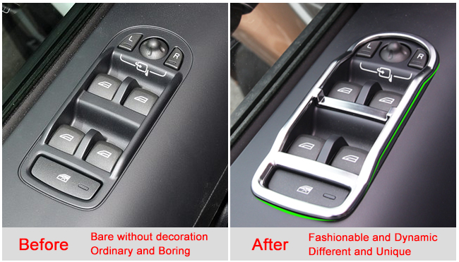 chrome door window switch panel cover trim for land rover freelander 2 lr2 08. Black Bedroom Furniture Sets. Home Design Ideas