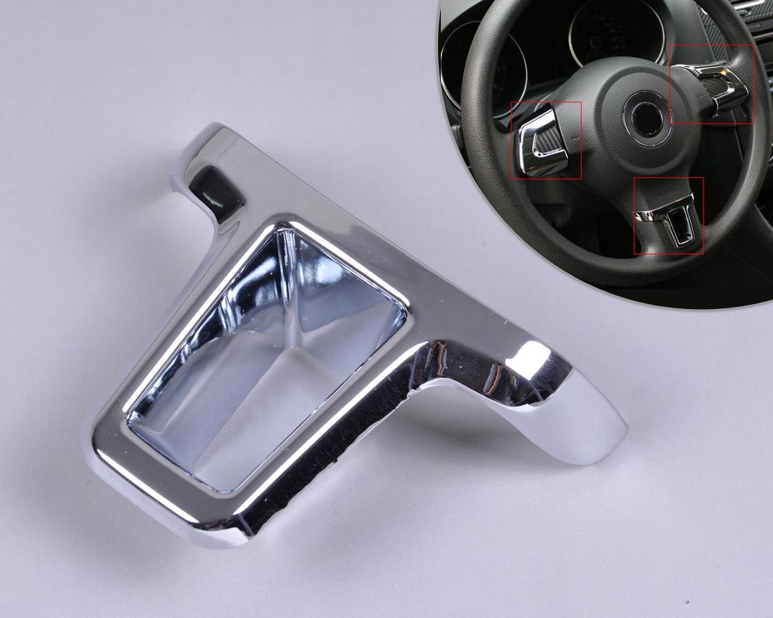 silver chrome steering wheel trim for vw golf6 09 11 polo. Black Bedroom Furniture Sets. Home Design Ideas