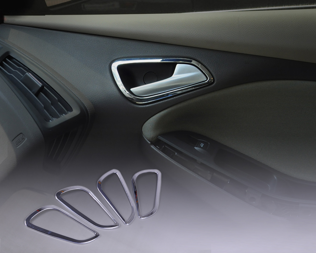 4x Chrome Door Handle Cover Interior Inner Inside Trim For Ford Focus 2013 Ebay