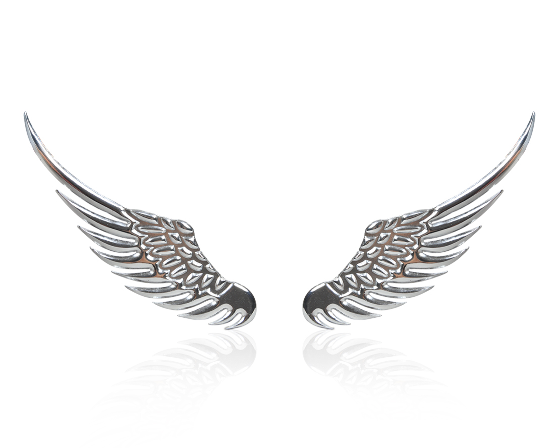 angel wings car window bumper body badge sticker decal