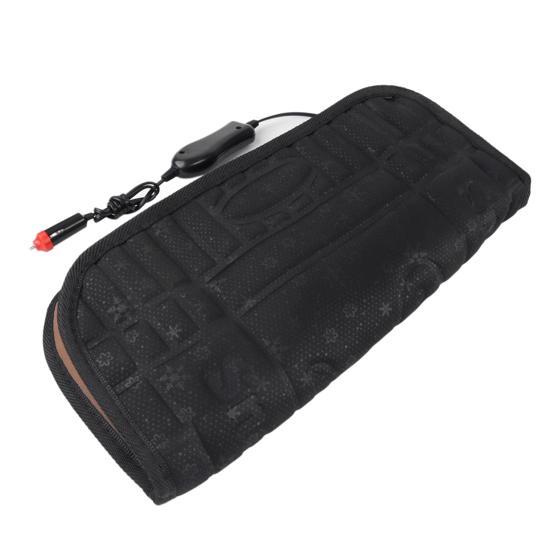 car heated seat cushion hot cover auto 12v heat heater warmer pad black ebay. Black Bedroom Furniture Sets. Home Design Ideas