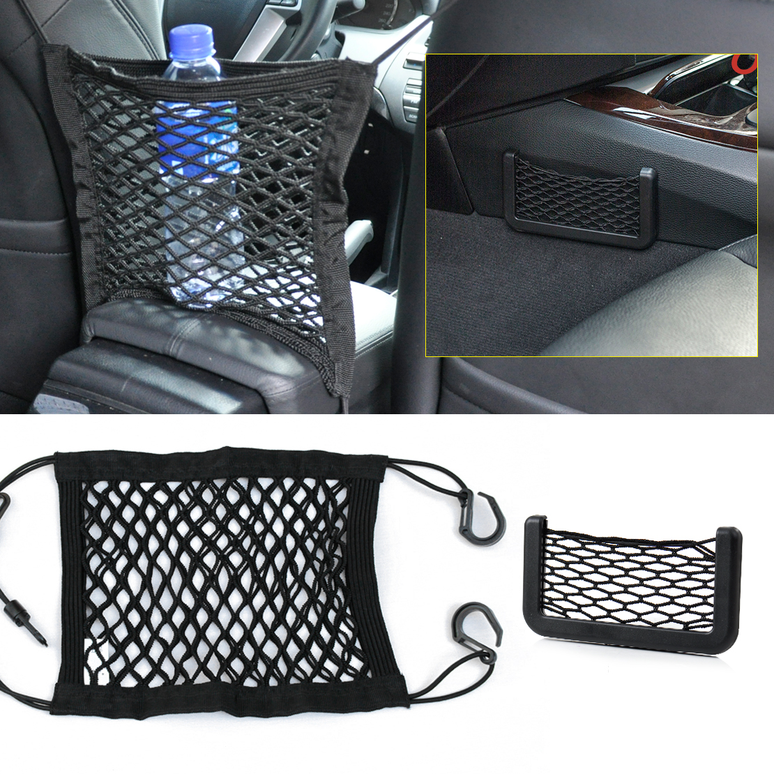 universal nylon car seat storage mesh luggage bag phone card net bag holder 702706007603 ebay. Black Bedroom Furniture Sets. Home Design Ideas