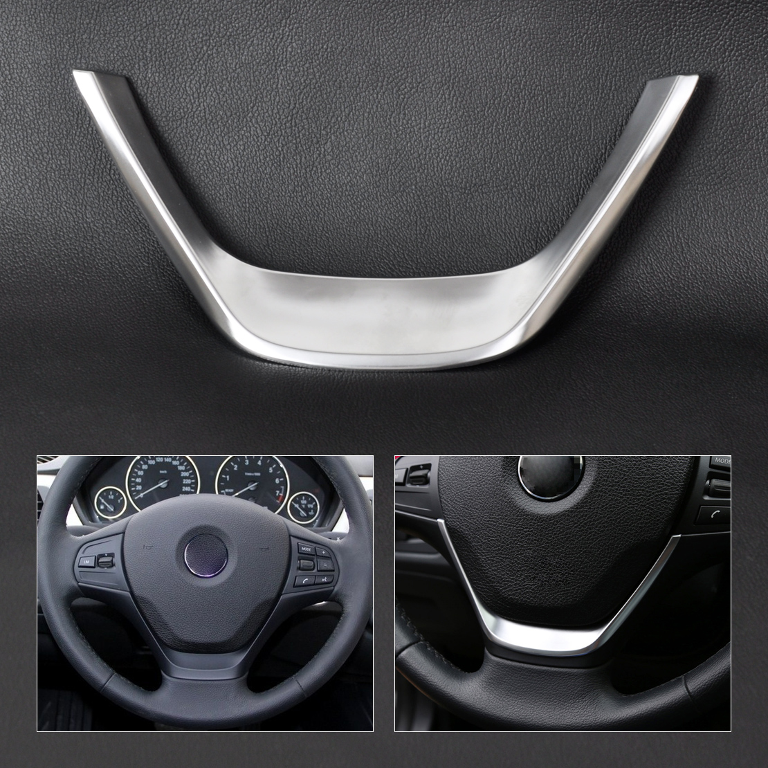 Chrome Steering Wheel Cover Trim For BMW 1 Series F20 114i