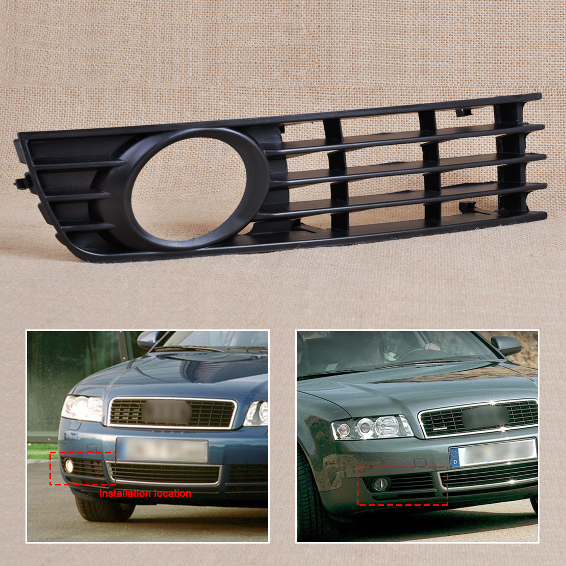 8e0807682 front right bumper fog light lower grille for 2002 2005 rh ebay com 1998 Audi A4 Engine Diagram 1998 Dodge Stratus Manual
