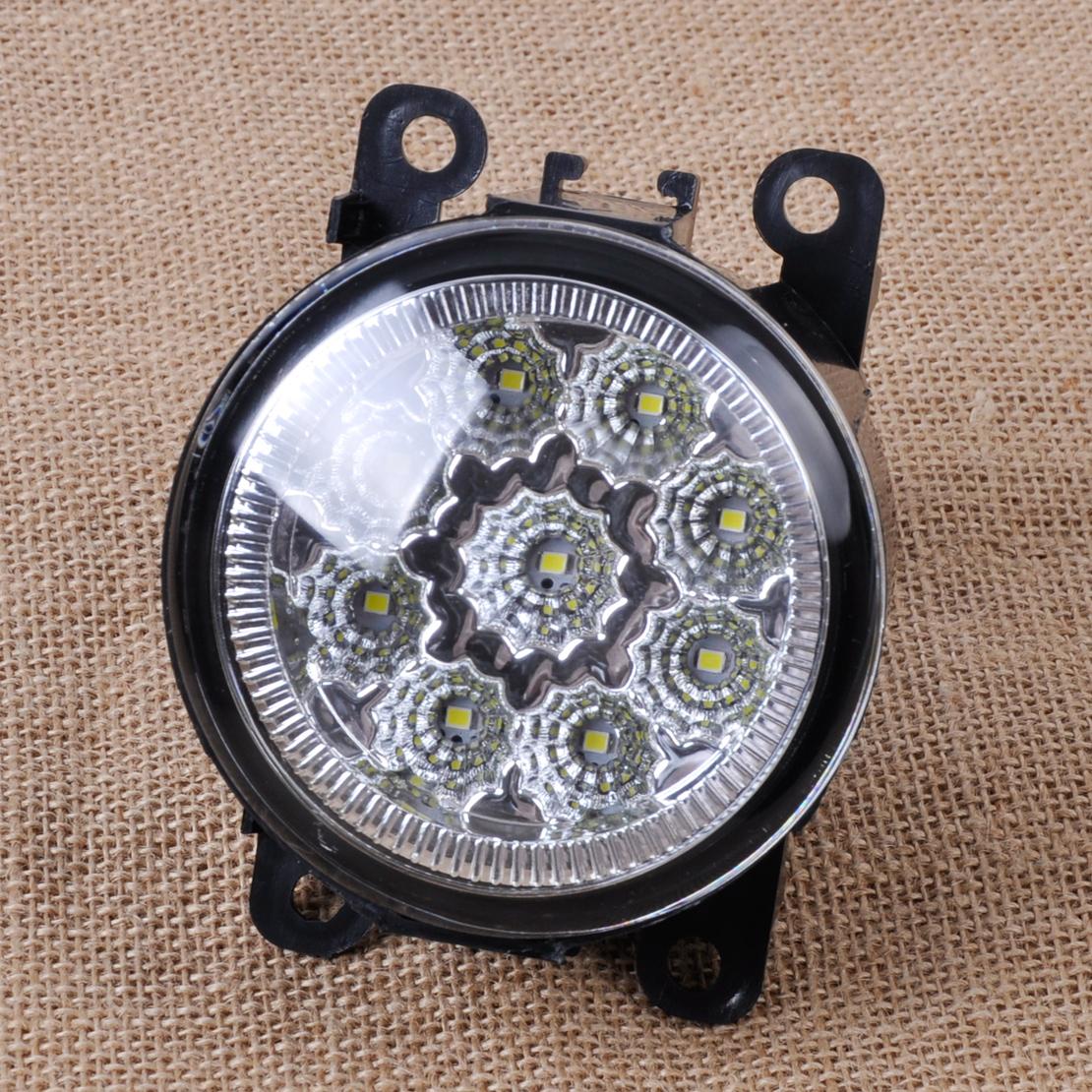 9LED Round Front Fog Lamp DRL Daytime Running Light For