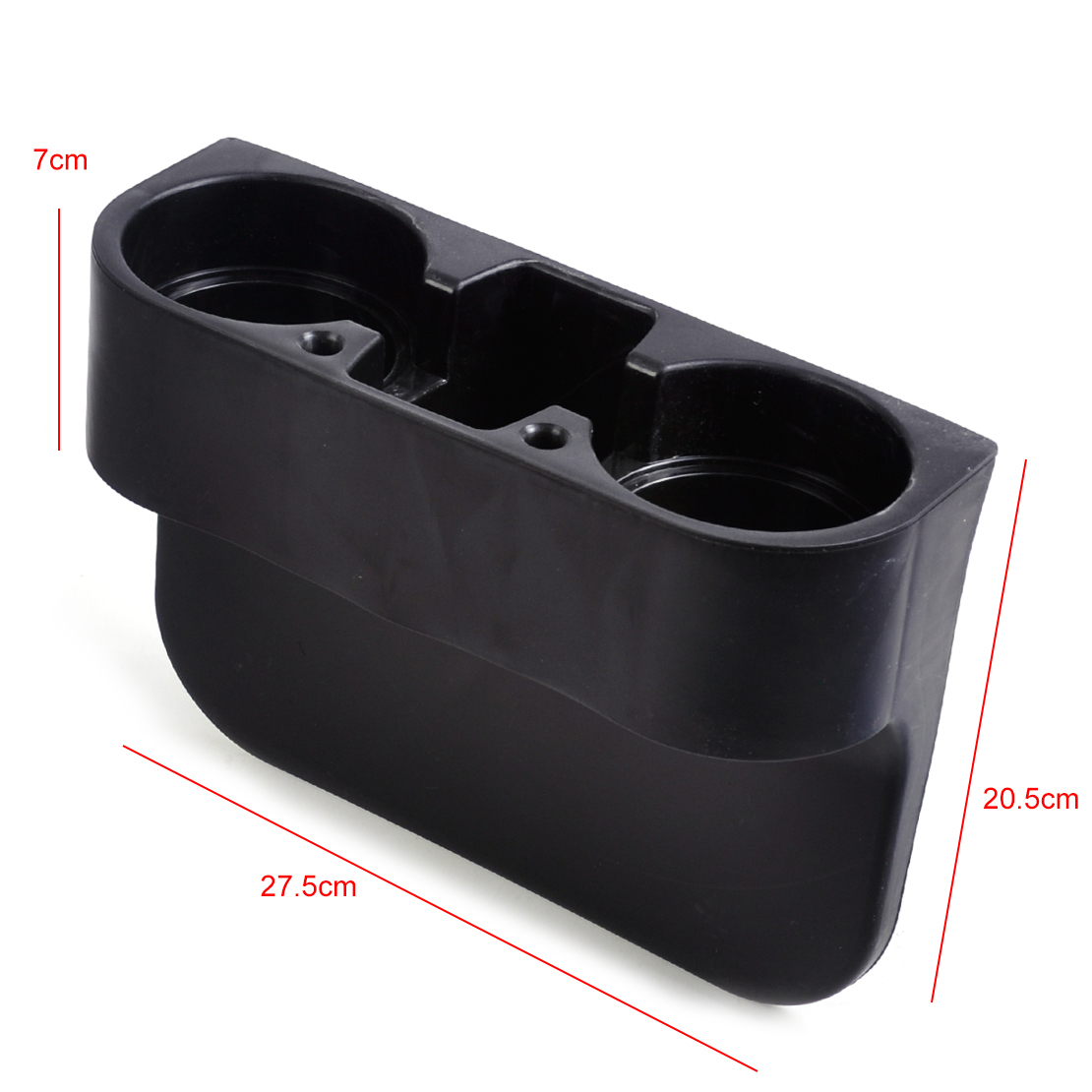 universal black car seat seam wedge cup drink holder mobile shelf content box ebay. Black Bedroom Furniture Sets. Home Design Ideas