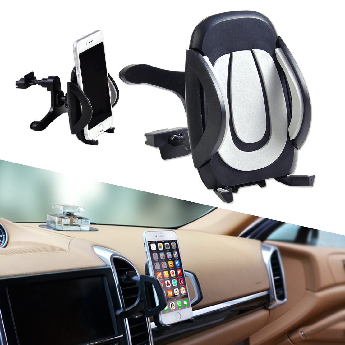 360 176 Car Air Vent Holder Stand Cradle Mount For Iphone Samsung Mobile Cell Phone Ebay
