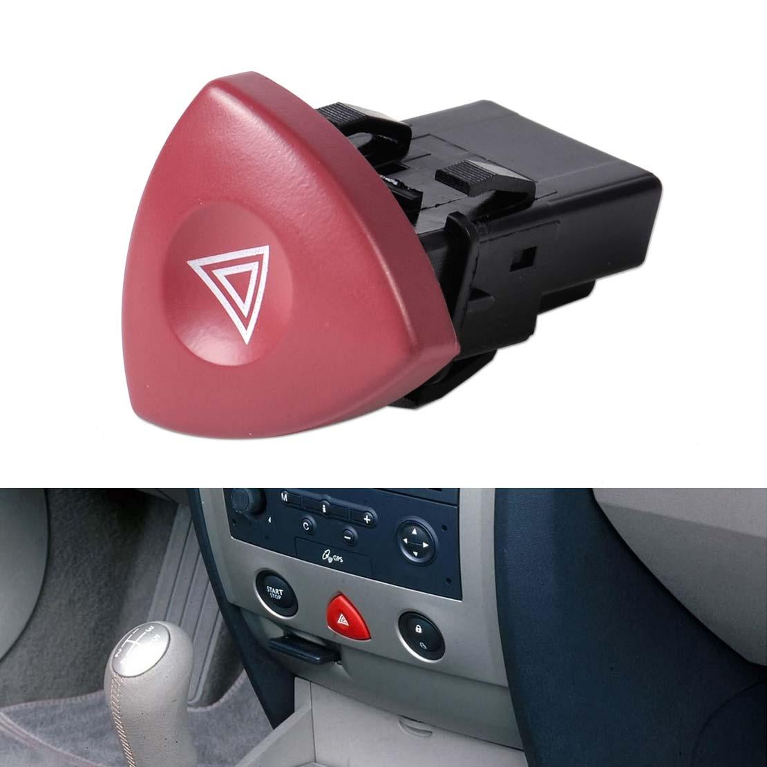 Hazard Light Switch Dash Button Fits Renault Espace IV 4 Opel Movano Nissan 01