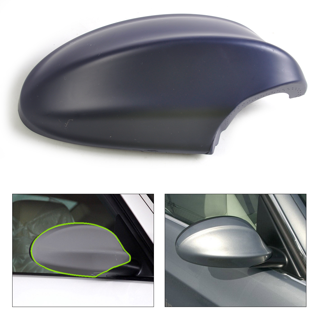 For BMW E90 E91 328xi Passenger Right Cover Cap for Door Mirror Primered OEM