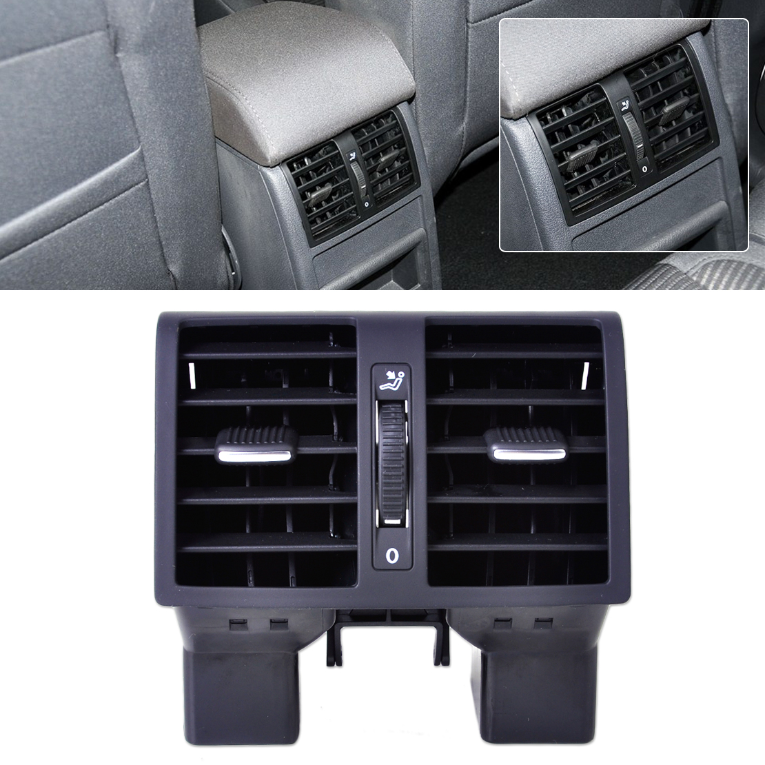 Centre Console Air Conditioning Rear Outlet Vent For VW Volkswagen Touran Caddy