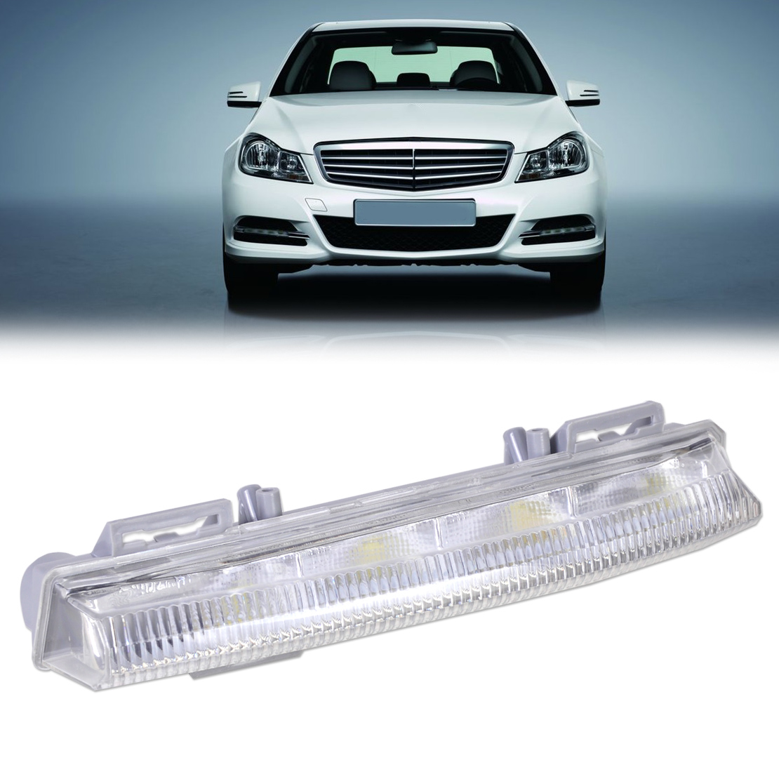 Led Drl Daytime Running Lights Fog Lamp Left For Mercedes Benz W204 C280 4matic 2007 Side Markers Repair Wire Harness Light 2049068900 Fit W212 R172