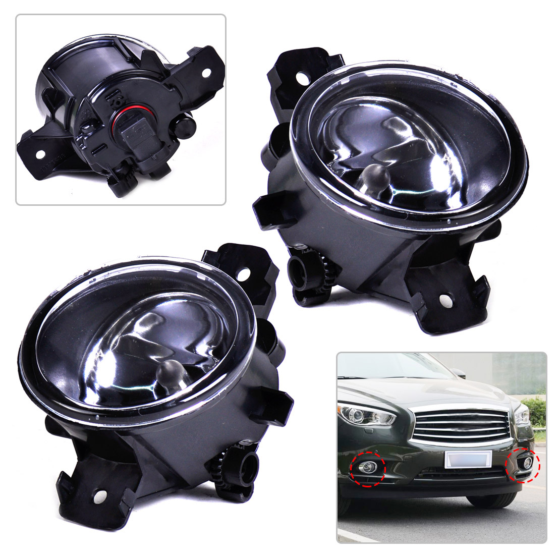 Nebel Licht Nebelscheinwerfer Nebellampe Fit Nissan Pathfinder Sentra Rogue