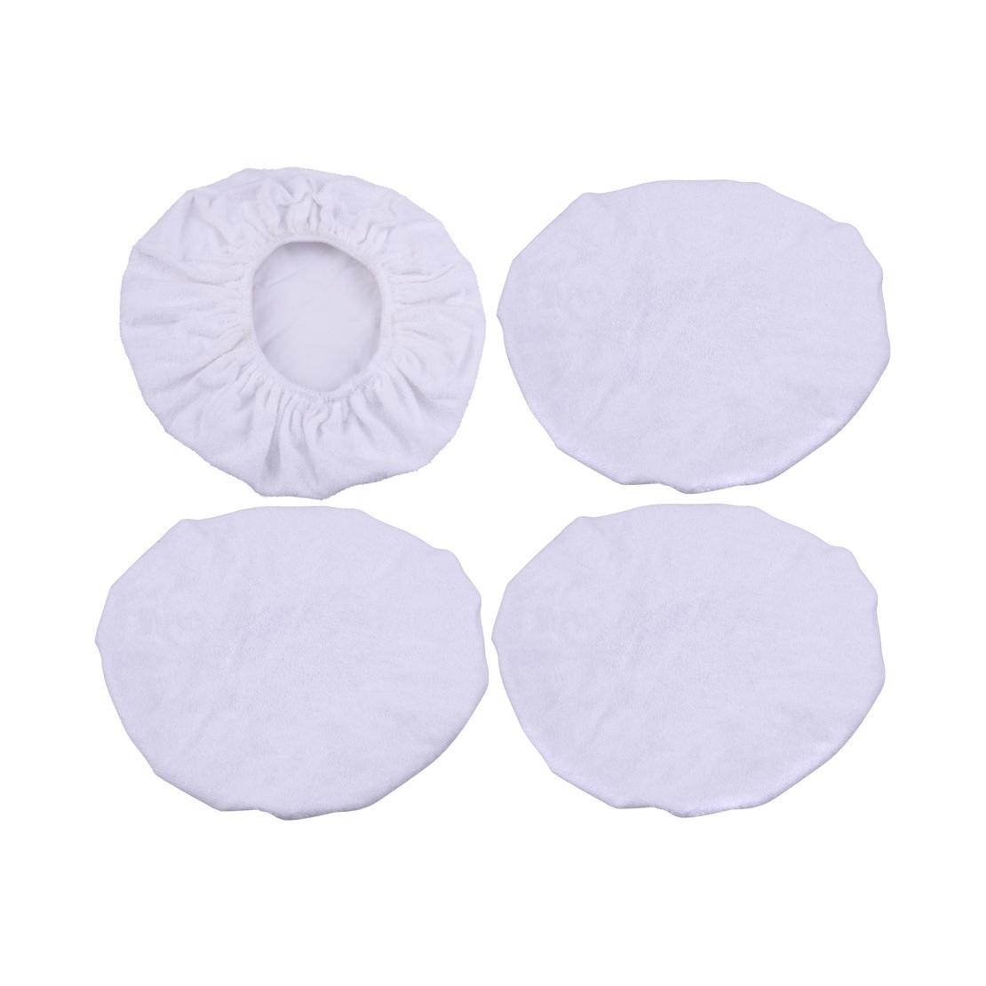 5PCS 9-10/'/' Plush Soft Car Polishing Waxing Bonnet Buffing Pad Cover Microfiber