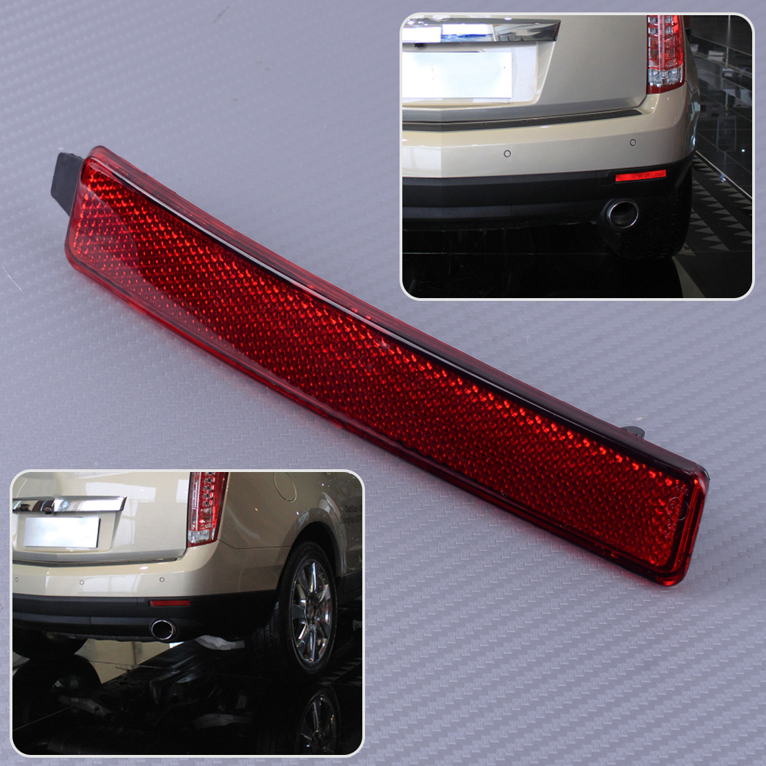 New Rear Passenger Side Bumper Reflector For Cadillac Cadillac SRX 2010-2016