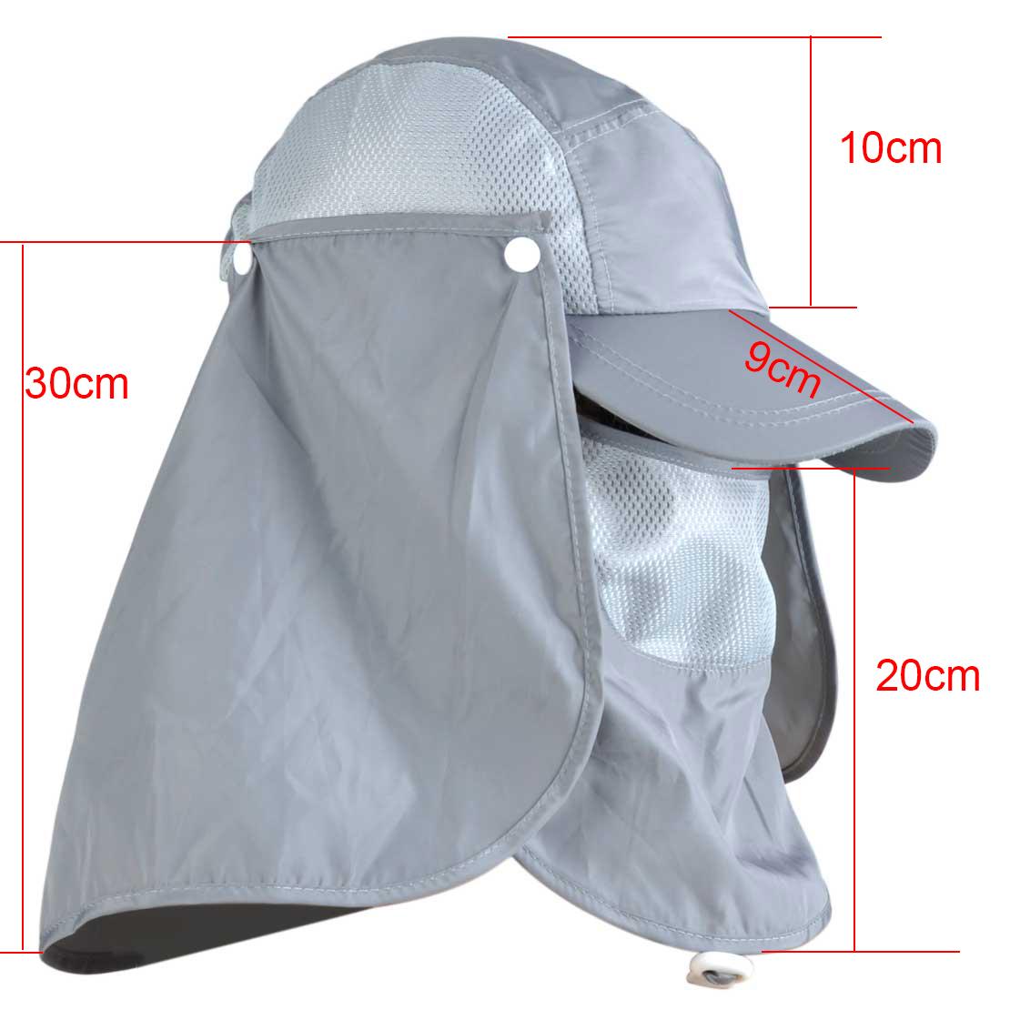 Unisex fishing hiking brim baseball cap sun uv protection for Fishing hats sun protection