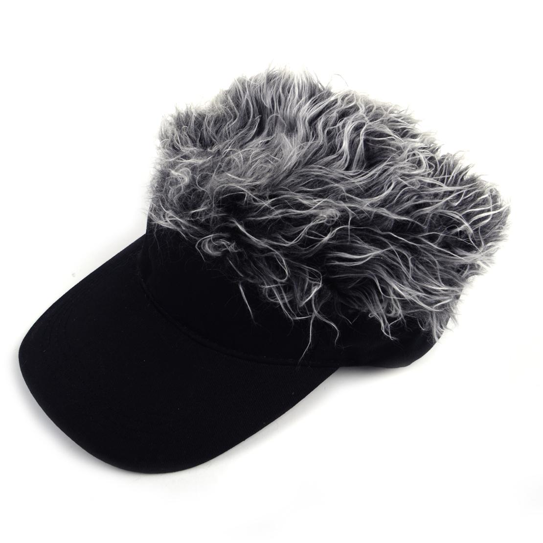 c1287aed61e Details about Unisex Unique Toupee Wig Baseball Hat Hook with Loop  Adjustable Sun Visor Cap