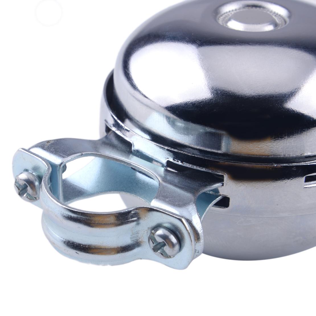 Vintage Retro Fahrradklingel Fahrradglocke Silber Chrom Glocke Ding Dong Bell