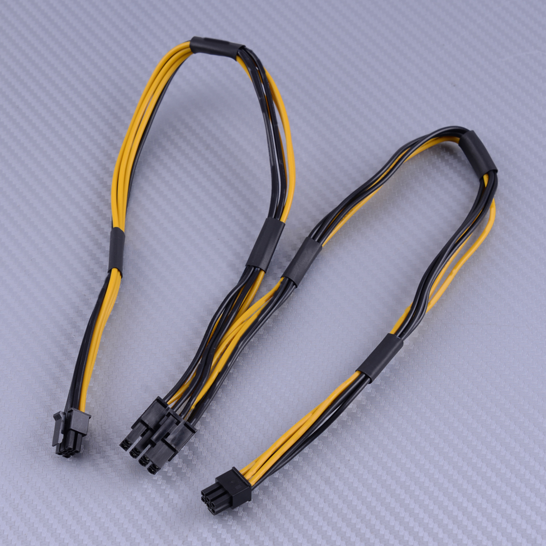 Dual mini  6 PIN male to 8 PIN male PCI-E POWER CABLE AWG#16  MADE IN USA