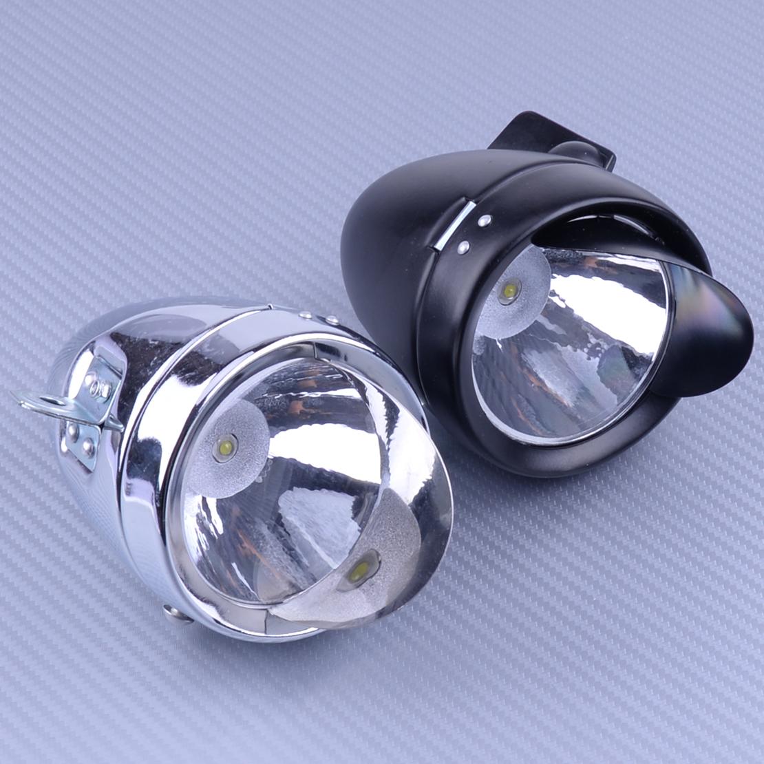 USA Vintage Bicycle Metal Chrome Headlight Bike LED Front Head Light Fog Lamp