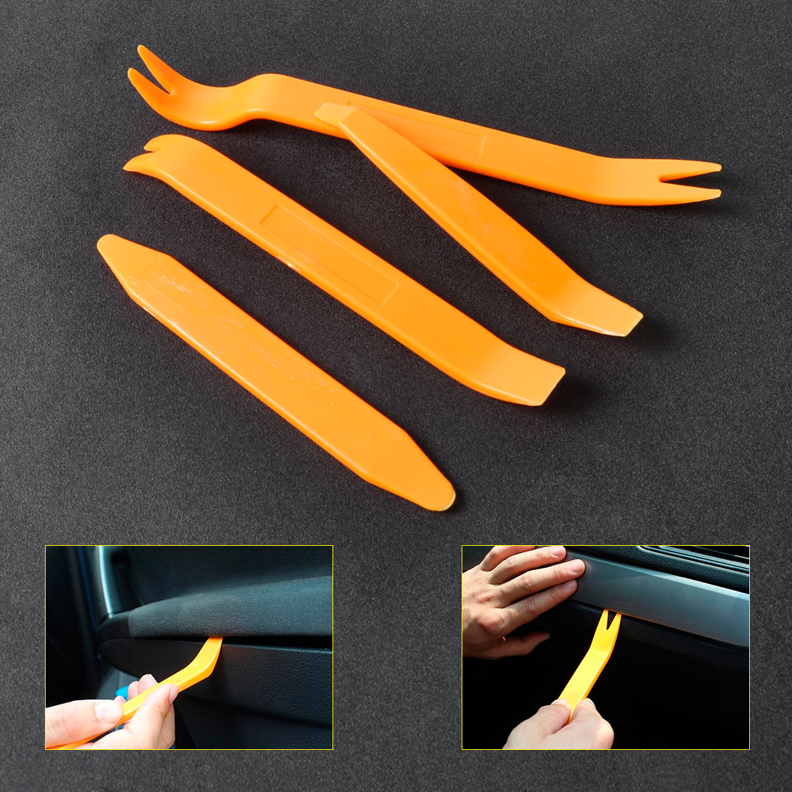4pcs Car Plastic Radio Door Clip Panel Trim Dash Audio Removal Kit Tool Car Tool