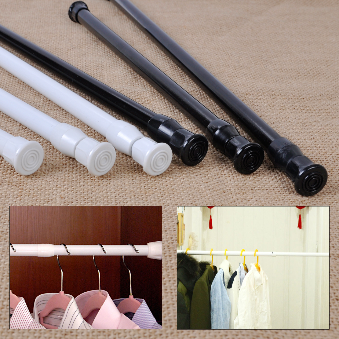 steel tension rod window bathroom curtain extensible rod hange ebay