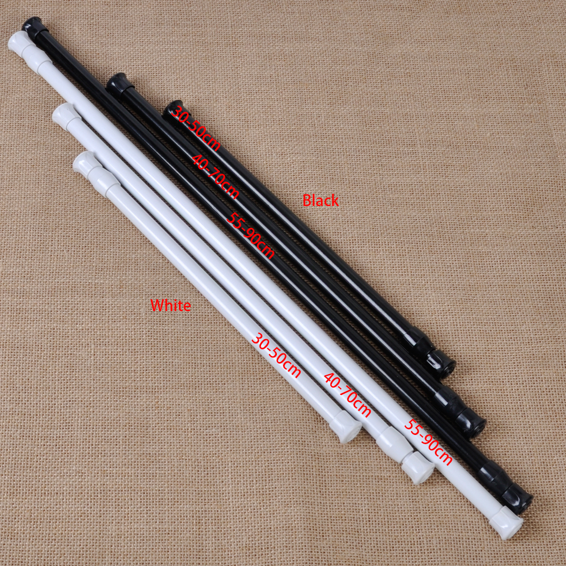 Hot Extendable Adjustable Spring Tension Rod Pole Curtain