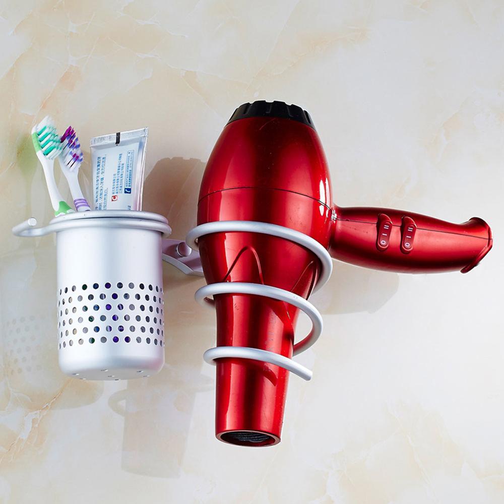 Aluminum Wall Mounted Bathroom Hair Drier Dryer Rack