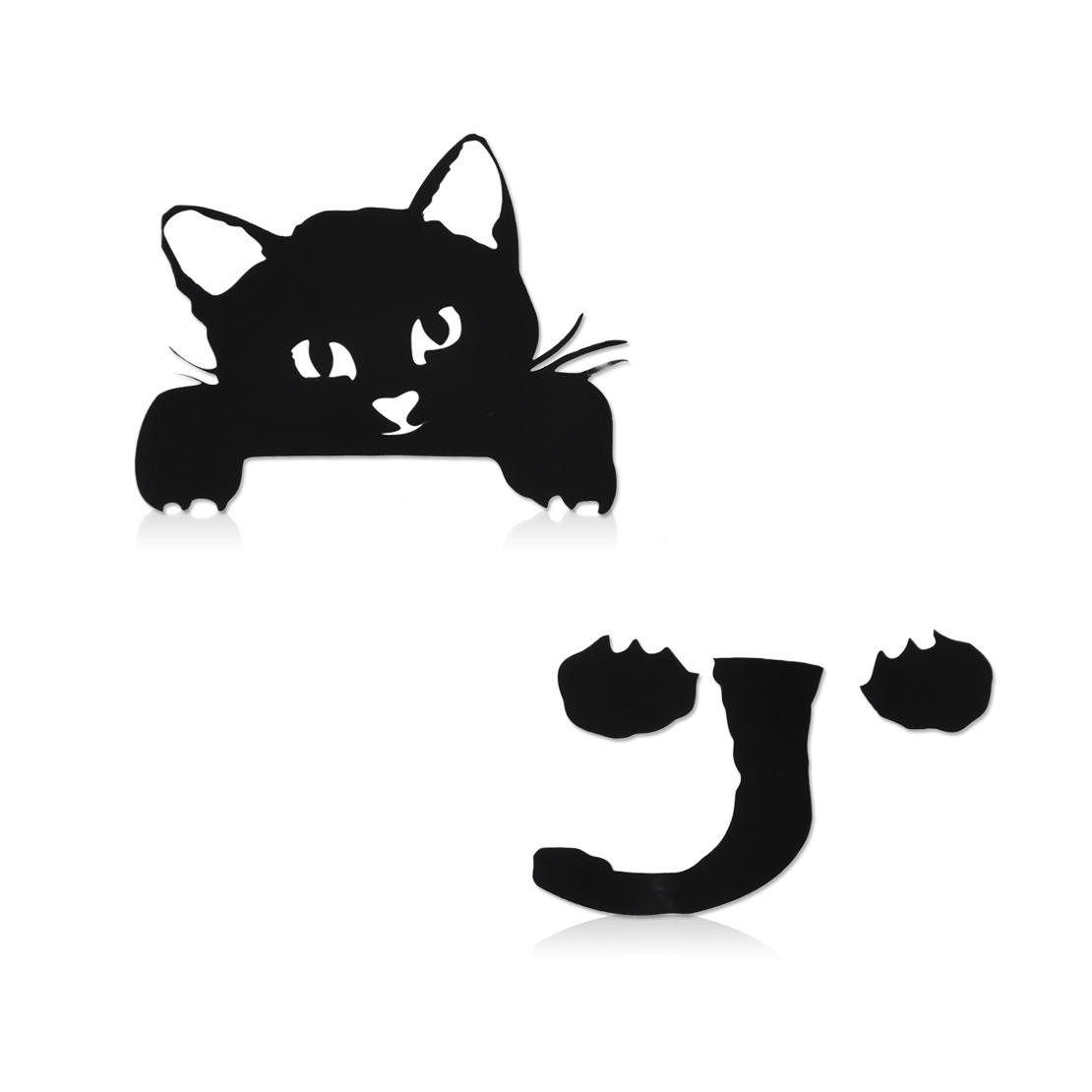 Black Cute Cat Light Switch Vinyl Sticker Wall Decal Home