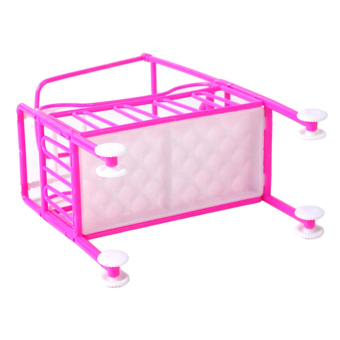 Mini Plastic Nursery Cradle Bed For Barbie Doll Dollhouse Toy Bedroom Furniture
